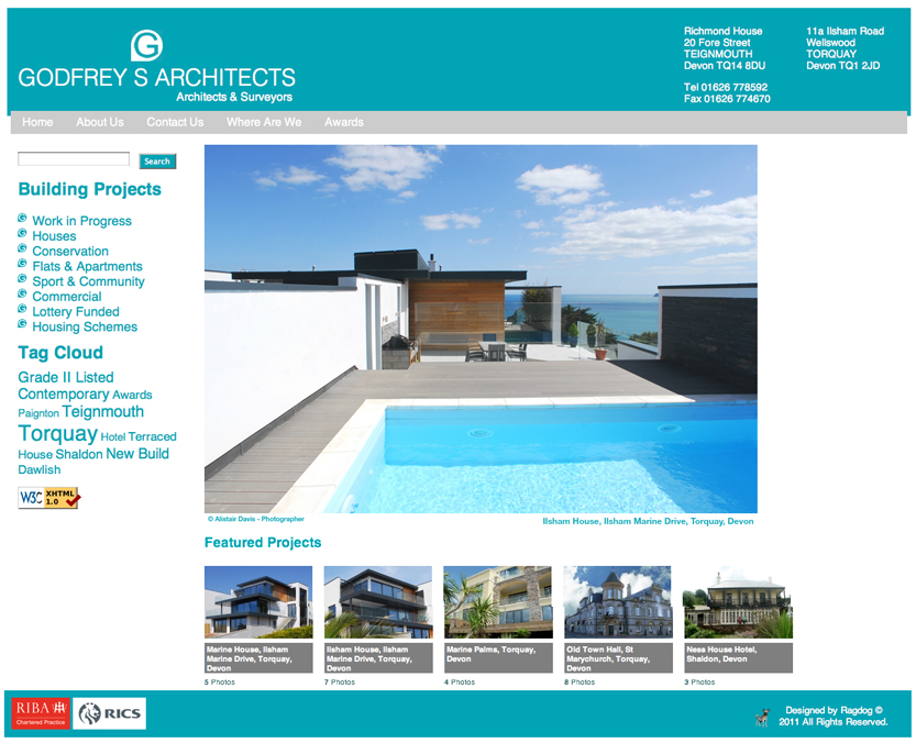 Ragdog godfrey 39 s architects web site design for Architectural websites