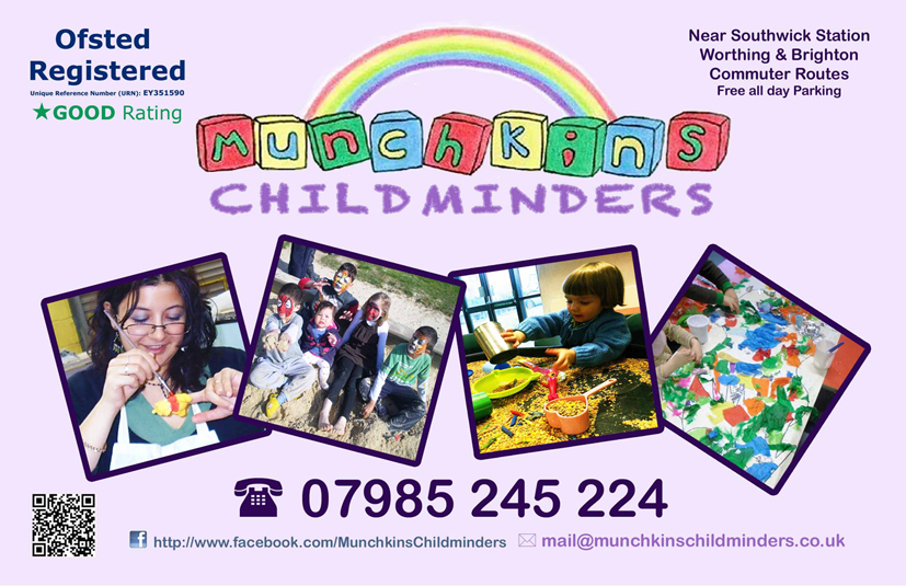 Munchkins Childminders - Advertising A5 Leaflet and Poster