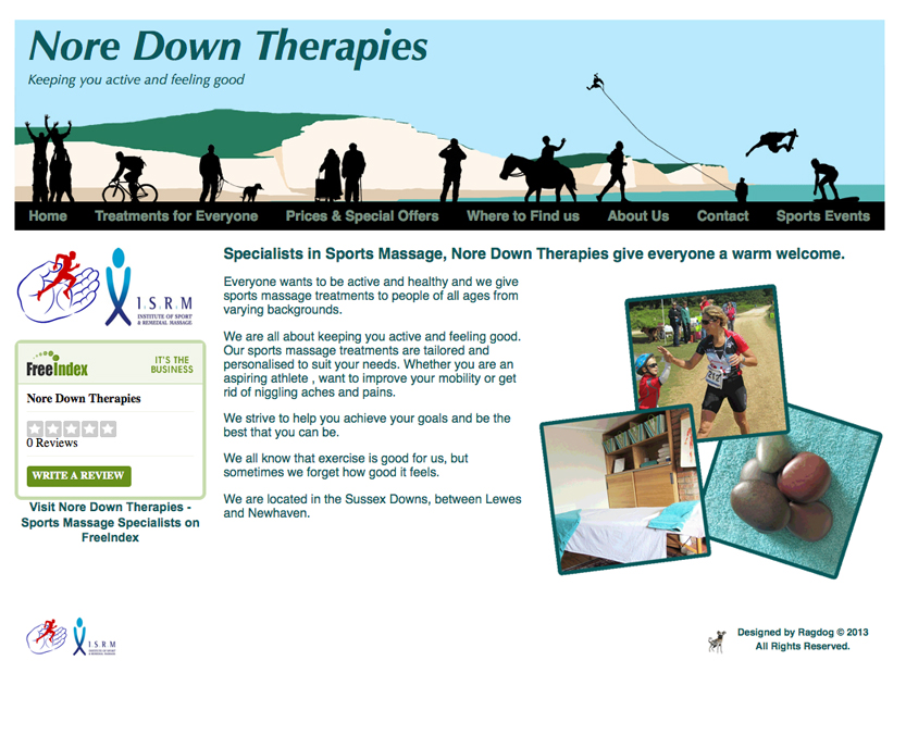 Nore Down Therapies Web Design