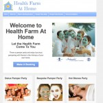 aHealth Farm at Home web design